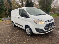 2017/17 REG FORD TRANSIT CUSTOM 290 TREND 2.0 DIESEL WHITE PANEL VAN, SHOWING 0 FORMER KEEPERS