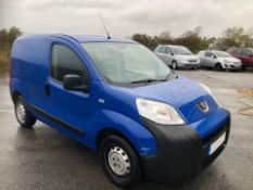 2013/63 REG PEUGEOT BIPPER S HDI 1.25 DIESEL BLUE PANEL VAN, SHOWING 0 FORMER KEEPERS *PLUS VAT*