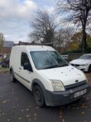 2003/53 REG FORD TRANSIT CONNECT T220 TDCI 1.8 DIESEL WHITE PANEL VAN, SHOWING 5 FORMER KEEPERS