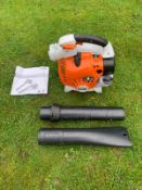 BRAND NEW AND UNUSED STIHL BNG86C-E LEAF BLOWER, C/W MANUAL, VACCUM PIPES & BAG *NO VAT*