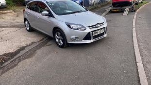 2013/63 REG FORD FOCUS ZETEC TURBO 998CC PETROL 5DR HATCHBACK, SHOWING 2 FORMER KEEPERS *NO VAT*