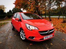 2018/67 REG VAUXHALL CORSA SRI 1.4 PETROL RED 5 DOOR HATCHBACK, SHOWING 2 FORMER KEEPERS *NO VAT*