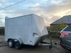 TOWAVAN BOX TRAILER, TOWS GOOD AND BRAKES GOOD *NO VAT*