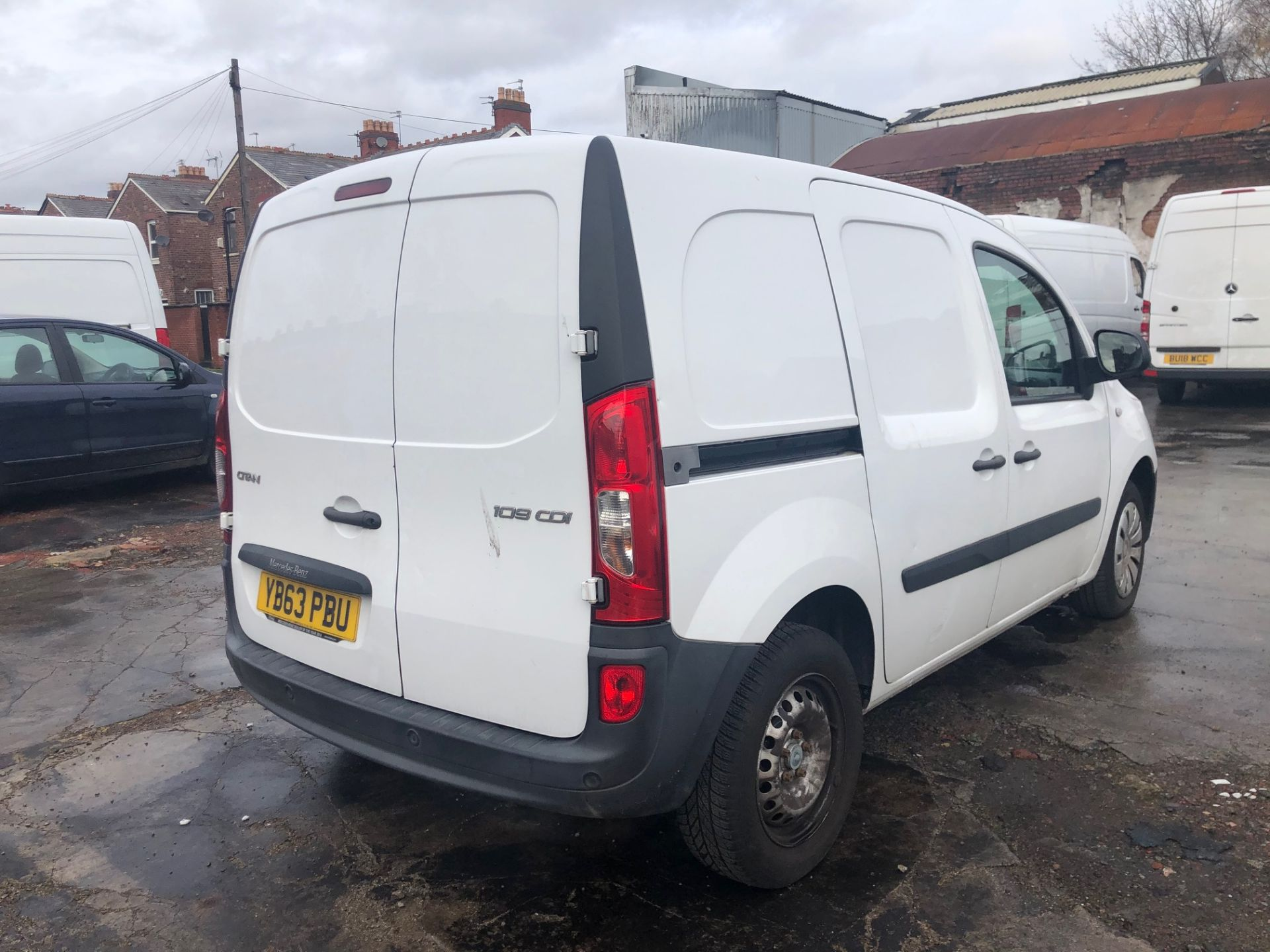 2014/63 REG MERCEDES-BENZ CITAN 109 CDI 1.5 DIESEL WHITE PANEL VAN, SHOWING 1 FORMER KEEPER - Image 6 of 13