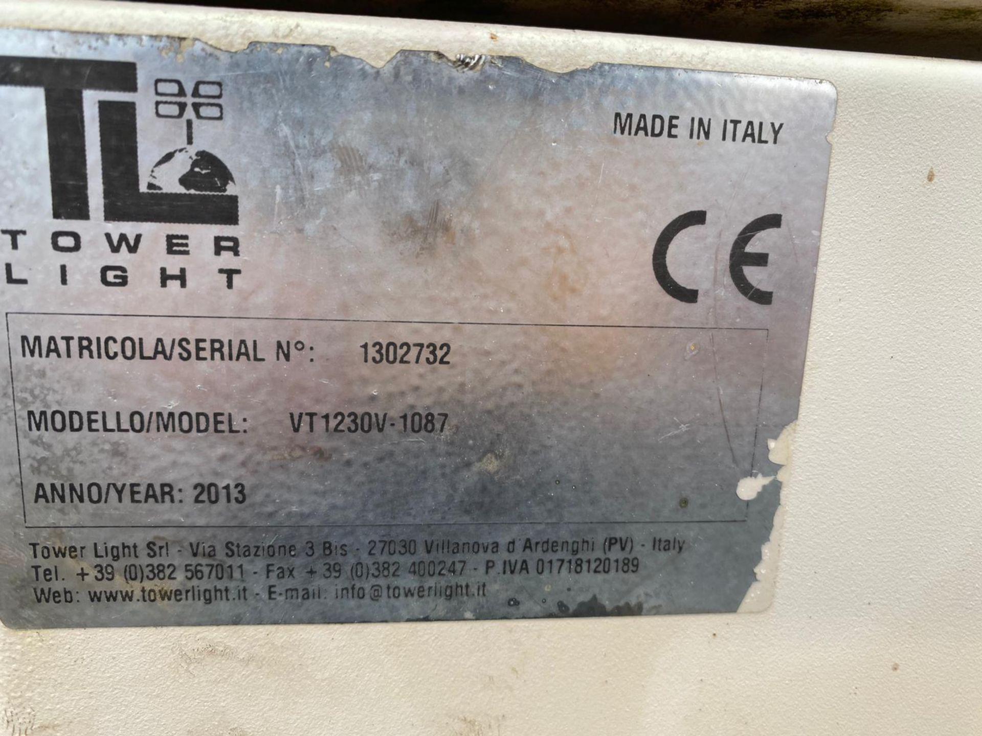 2013 VT1 LIGHTING TOWER, 10 KVA 240V, YEAR 2013, KUBOTA D1105 DIESEL ENGINE, HOURS: 2981 *PLUS VAT* - Image 4 of 5