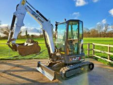 MINI EXCAVATOR BOBCAT E27Z, BRAND NEW - NEVER USED, 3 BUCKETS, LONG REACH DIPPER, ZERO HOURS
