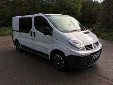 2009/59 REG RENAULT TRAFIC SL27+ DCI 115 2.0 DIESEL WHITE PANEL VAN, SHOWING 5 FORMER KEEPERS