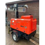VT1 TOWER LIGHT, TOWABLE LIGHTING TOWER, KUBOTA D1105 ENGINE - SOLD AS SEEN *PLUS VAT*