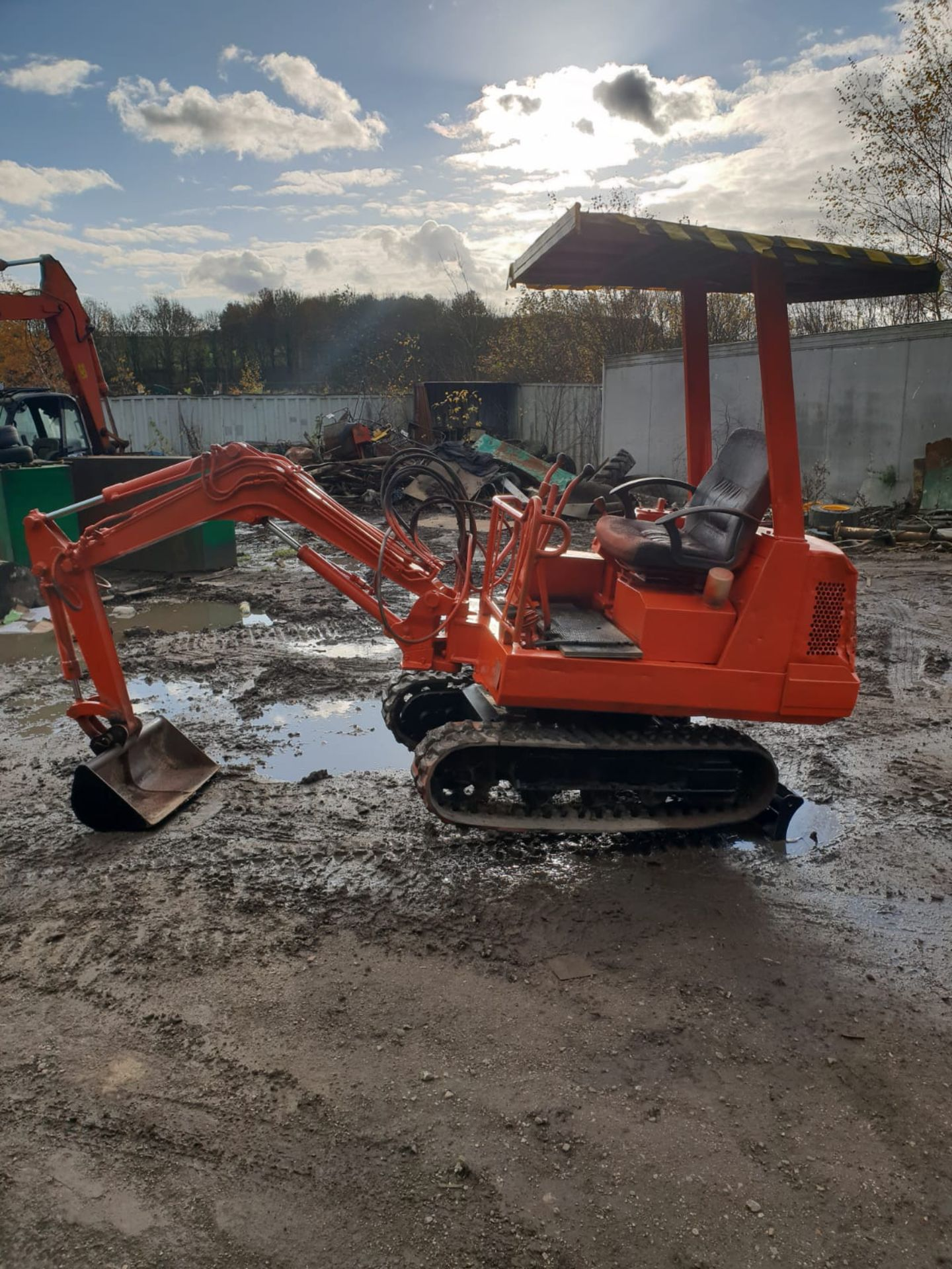KUBOTA MINI DIGGER RUBBER TRACKED EXCAVATOR, 1.5 TON, STARTS AND DRIVES *NO VAT*