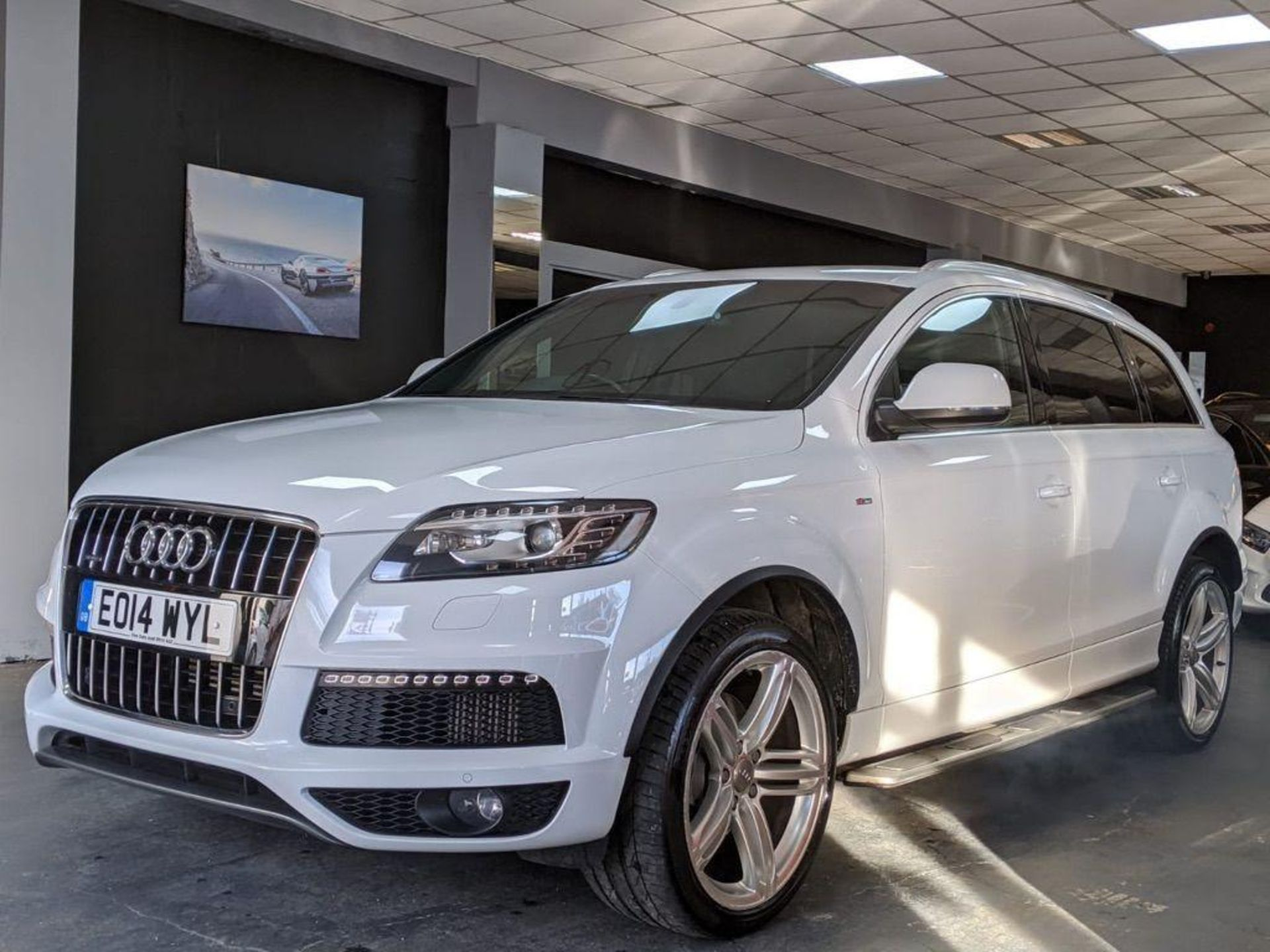 2014/14 REG AUDI Q7 S LINE + TDI QUATTRO 3.0 DIESEL AUTO 245 PS 7 SEAT, SHOWING 3 FORMER KEEPERS - Image 2 of 36