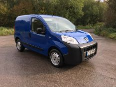 2013/63 REG PEUGEOT BIPPER S HDI 1.25 DIESEL BLUE PANEL VAN, SHOWING 2 FORMER KEEPERS *NO VAT*