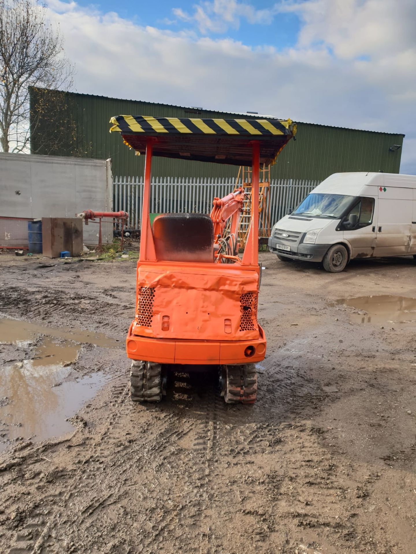 KUBOTA MINI DIGGER RUBBER TRACKED EXCAVATOR, 1.5 TON, STARTS AND DRIVES *NO VAT* - Image 8 of 8