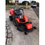 HUSQUVARNA R13C OUT FRONT RIDE ON LAWN MOWER, RUNS, DRIVES AND CUTS *NO VAT*