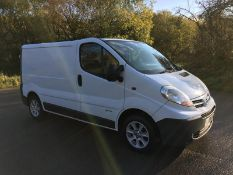 2009/09 REG NISSAN PRIMASTAR DCI 115 SE SWB 2.0 DIESEL WHITE PANEL VAN, SHOWING 0 FORMER KEEPERS