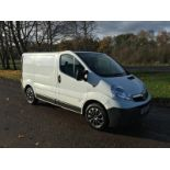 2008/58 REG VAUXHALL VIVARO 2900 CDTI SWB 2.0 DIESEL WHITE PANEL VAN, SHOWING 1 FORMER KEEPER