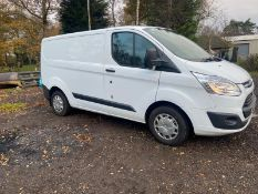 2017/67 REG FORD TRANSIT CUTSOM 290 2.0 DIESEL WHITE PANEL VAN, SHOWING 0 FORMER KEEPERS *PLUS VAT*