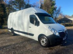 2015/65 REG VAUXHALL MOVANO R3500 L4H3 CDTI DRW 2.3 DIESEL WHITE PANEL VAN, SHOWING 1 FORMER KEEPER