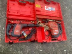 HILTI TE 300 NEEDLE GUN BREAKER AND TE 80 BREAKER 110V, DIRECT GAP EX HIRE UNTESTED *PLUS VAT*