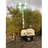2013 VT1 LIGHTING TOWER, 10 KVA 240V, YEAR 2013, KUBOTA D1105 DIESEL ENGINE, HOURS: 2981 *PLUS VAT*