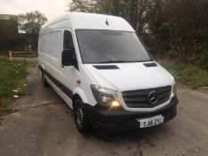 2016/16 REG MERCEDES-BENZ SPRINTER 310 CDI 2.2 DIESEL WHITE PANEL VAN, SHOWING 0 FORMER KEEPERS