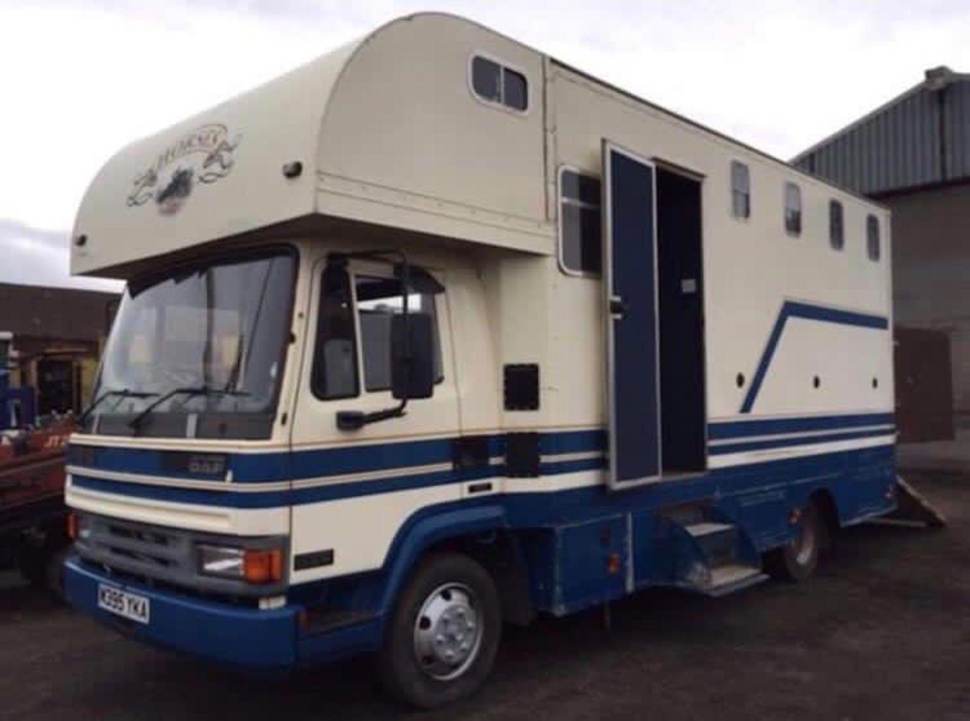 1995 Leyland Daf 7.5 Ton horse box lorry