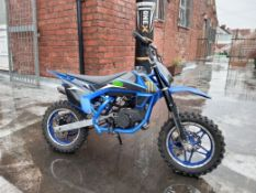 50cc Moto-madness Pit Bike (Blue) No Vat
