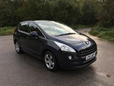 2013/13 REG PEUGEOT 3008 ACTIVE E-HDI S-A 1.6 DIESEL BLUE 5 DOOR, SHOWING 3 FORMER KEEPERS *NO VAT*