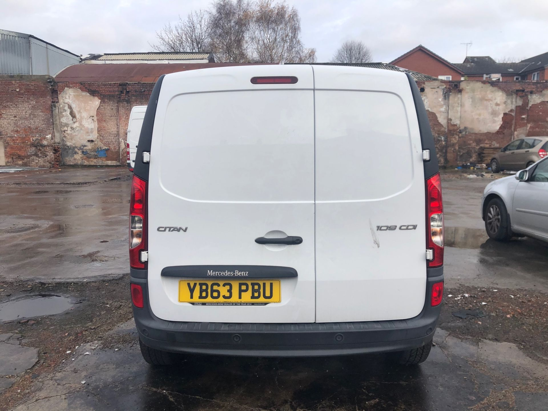 2014/63 REG MERCEDES-BENZ CITAN 109 CDI 1.5 DIESEL WHITE PANEL VAN, SHOWING 1 FORMER KEEPER - Image 5 of 13