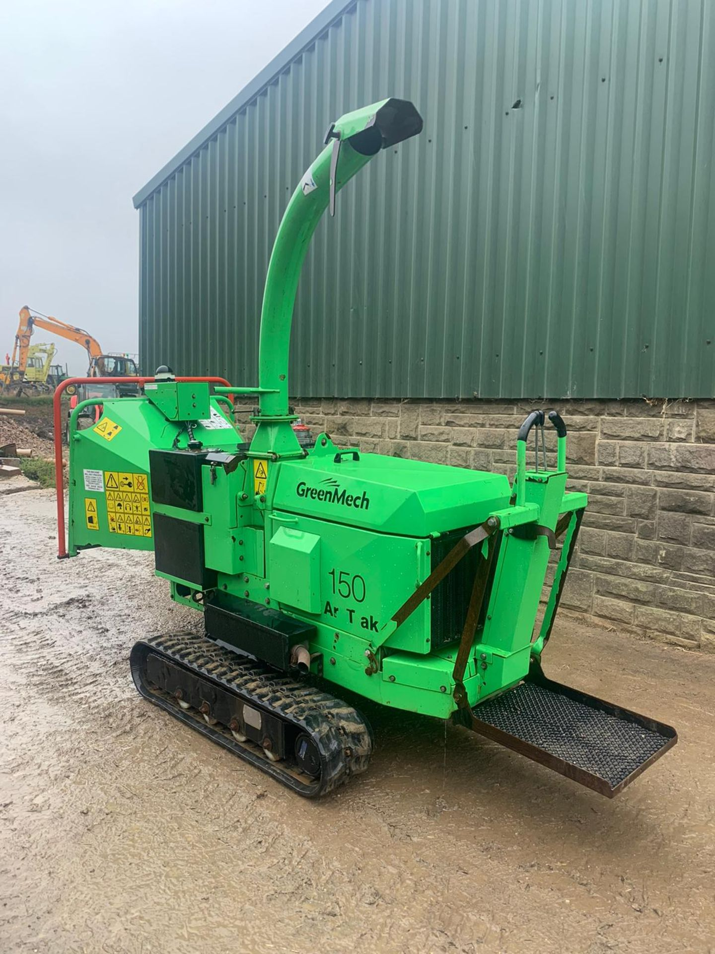 2014 GREENMECH ARB TRACK 150-35 STAND ON / WALK BEHIND WOOD CHIPPER, RUNS, DRIVES & CHIPS *PLUS VAT* - Image 4 of 5