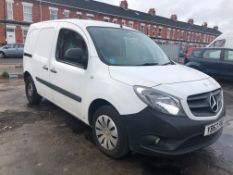 2014/63 REG MERCEDES-BENZ CITAN 109 CDI 1.5 DIESEL WHITE PANEL VAN, SHOWING 1 FORMER KEEPER