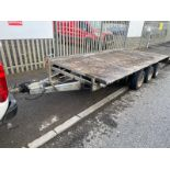 IFOR WILLIAMS LM146G TRI-AXLE TRAILER, RAMPS NOT INCLUDED *PLUS VAT*