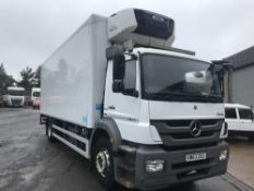 2013/63 REG MERCEDES-BENZ AXOR ATEGO 1824L DAY WHITE FRIDGE BOX TAIL LIFT AIR SUSPENSION *PLUS VAT*