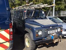2009/09 REG LAND ROVER DEFENDER 110 HARDTOP 2.4 DIESEL LIGHT 4X4 UTILITY, SHOWING 1 FORMER KEEPER