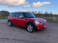 2009/09 REG MINI COOPER CLUBMAN 1.6 PETROL RED 3 DOOR, SHOWING 3 FORMER KEEPERS *NO VAT*
