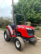 2017/18 MASSEY FERGUSON 1740 COMPACT TRACTOR, RUNS AND DRIVES, ROAD REGISTERED *PLUS VAT*