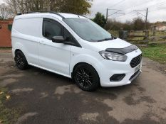 2018/18 REG FORD TRANSIT COURIER TREND TDCI 1.5 DIESEL WHITE VAN, SHOWING 0 FORMER KEEPERS *PLUS VAT