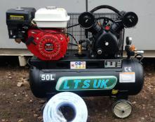 MC - AIR COMPRESSOR 50 LTR NEW PETROL ENGINE 5.5 HP NEW *PLUS VAT* BRAND NEW
