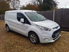 2017/67 REG FORD TRANSIT CONNECT 240 LIMITED 1.5 DIESEL WHITE PANEL VAN, SHOWING 1 KEEPER - NO VAT
