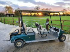 GOLF BUGGY CLUB CAR, 6-SEATER, ELECTRIC *PLUS VAT*