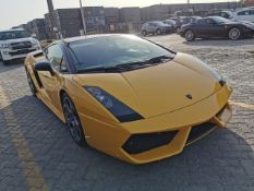 LATE 2003 LAMBORGHINI GALLARDO 5.0L PETROL LHD YELLOW AND BLACK 2DR COUPE - C/W NOVA PIN *NO VAT*