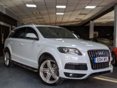 2014/14 REG AUDI Q7 S LINE + TDI QUATTRO 3.0 DIESEL AUTO 245 PS 7 SEAT, NO VAT - (ONLY ON BP)