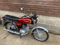 1986 YAMAHA 100 97CC PETROL MOTORCYCLE, DOCUMENTS PRESENT, MILEAGE: 13504 *NO VAT*