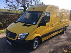 2016/66 REG MERCEDES-BENZ SPRINTER 314 CDI 2.2 DIESEL YELLOW PANEL VAN, AD BLUE, BLUE EFFICIENCY