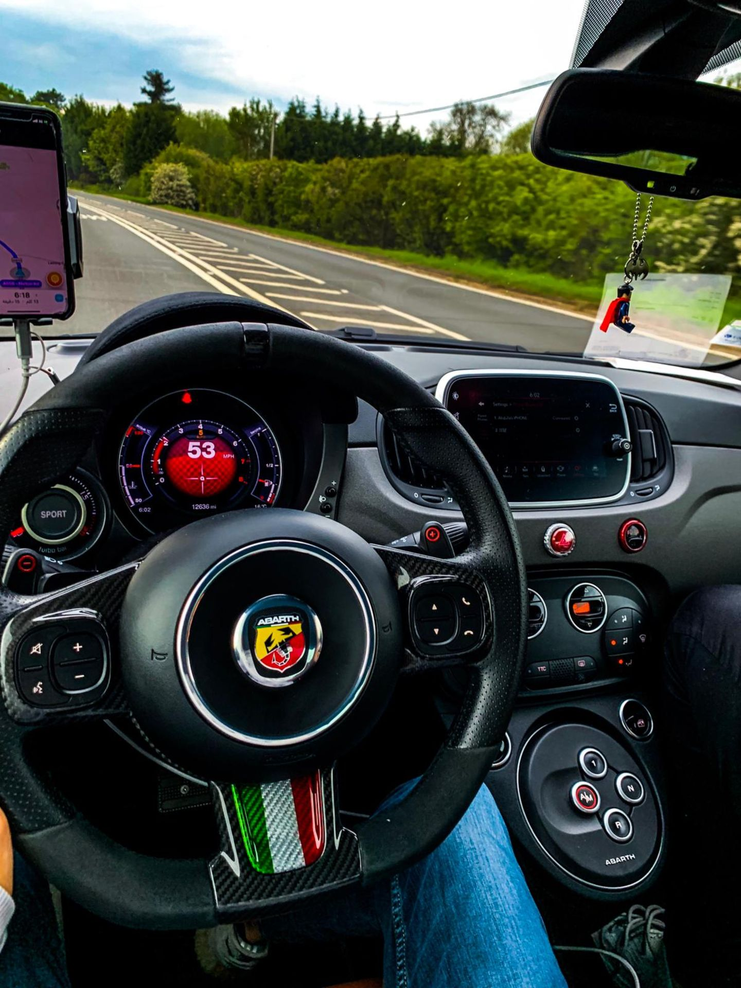 ABARTH 595 COMP 2016, 10,000 MILES NO ACCIDENTS, CUSTOM EXHAUST, WRAPPED DARK GREEN, FRENCH PLATES - Image 5 of 5