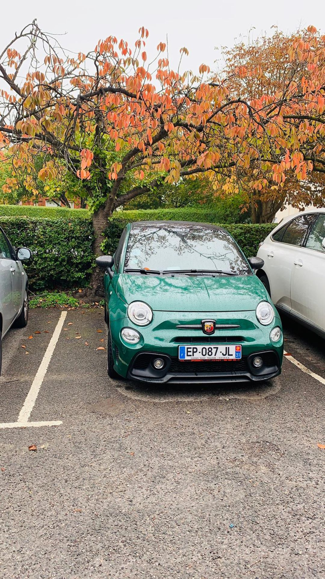 ABARTH 595 COMP 2016, 10,000 MILES NO ACCIDENTS, CUSTOM EXHAUST, WRAPPED DARK GREEN, FRENCH PLATES