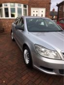 2012/62 REG SKODA OCTAVIA S TDI CR 1.6 DIESEL SILVER 5 DOOR HATCHBACK, SHOWING 4 FORMER KEEPERS