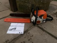 STIHL MS181C CHAINSAW, RUNS AND WORKS, CLEAN MACHINE, C/W CHAIN COVER, MANUAL *NO VAT*