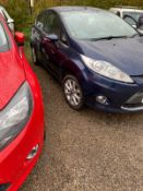 2011/11 REG FORD FIESTA ZETEC 1.4 PETROL BLUE 5 DOOR HATCHBACK, SHOWING 5 FORMER KEEPERS *NO VAT*