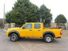 2007/07 REG FORD RANGER D/C 4WD 2.5 DIESEL YELLOW PICK-UP, SHOWING 5 FORMER KEEPERS *NO VAT*