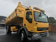 2013/62 REG DAF TRUCKS LF FA 55.250 YELLOW TIPPER 18 TON 3 WAY MANUAL GEARBOX, EX COUNCIL *PLUS VAT*
